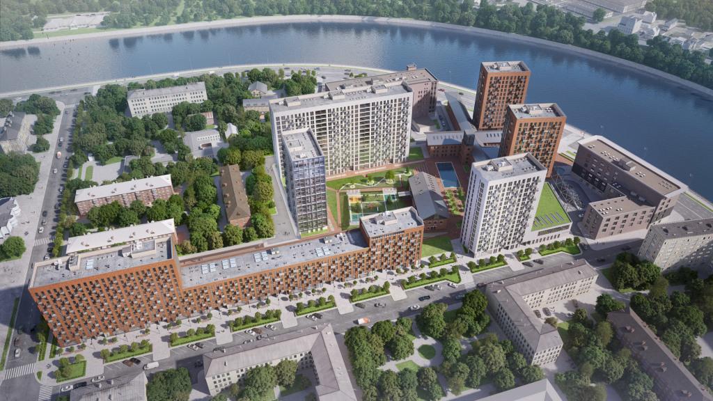 План обновление исторического Даниловского района на Павелецкой набережной.