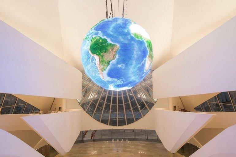 В выставочных залах представлены многочисленные интерактивные выставки