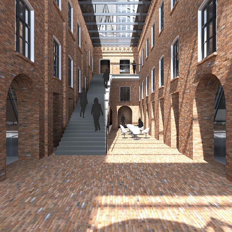 Сохраненный исторический облик квартала.