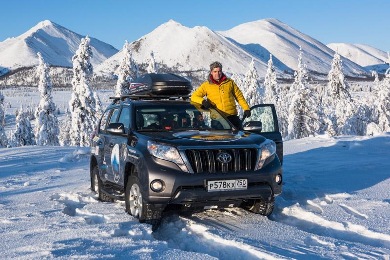 Сергей Доля в экспедиции Toyota на Крайнем Севере