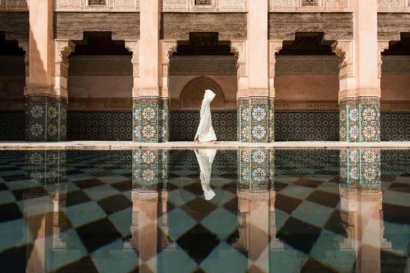 """Фотография, сделанная в медресе Бен Юсефа в Марокко - первое место в номинации """"Города"""""""