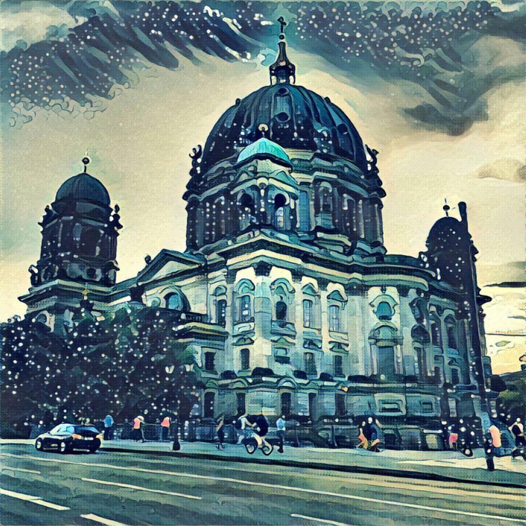 Берлинский кафедральный собор через Prisma