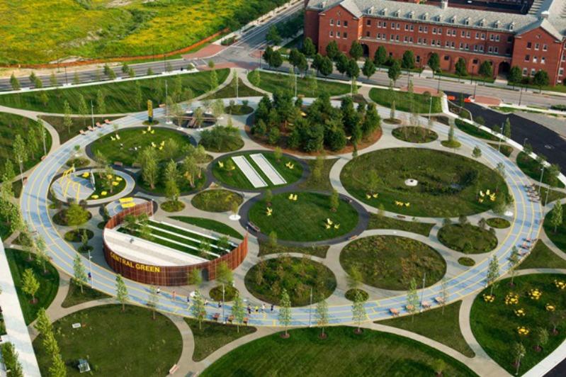 Парк Navy Yards Central Green, Филадельфия, США