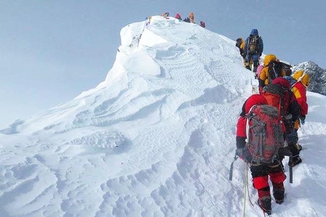 Восхождение на Эверест. Фото: Ирена Харазова