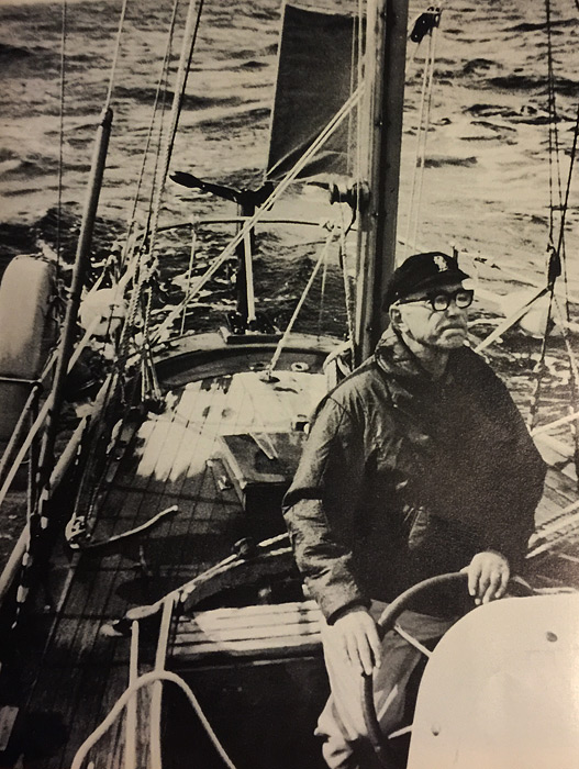 Джером Брунер на яхте