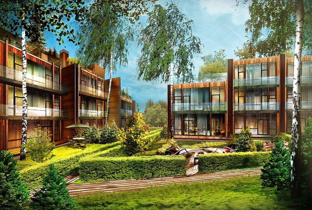 Проект Таунхаусов Futuro Park.