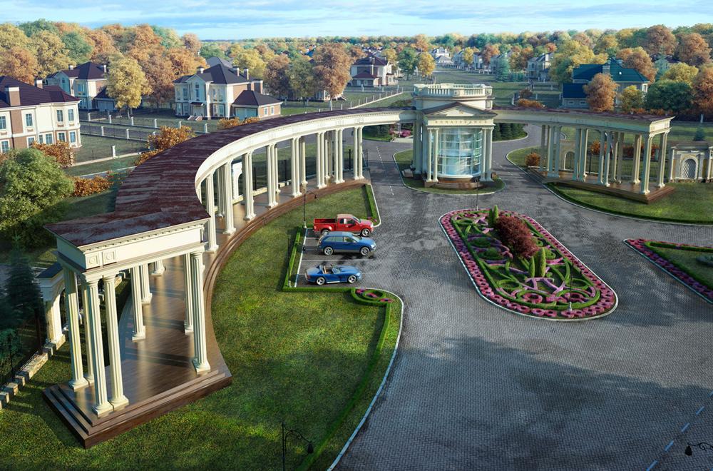 Выгодное расположение, лес, удобномый подъезд с Новорижского шоссе.