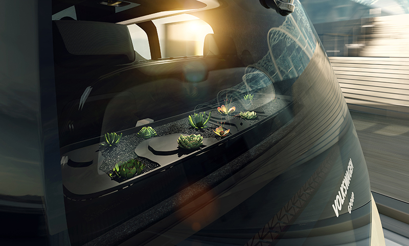 Volkswagen Sedric - «self-driving car» – автопилотируемый автомобиль.