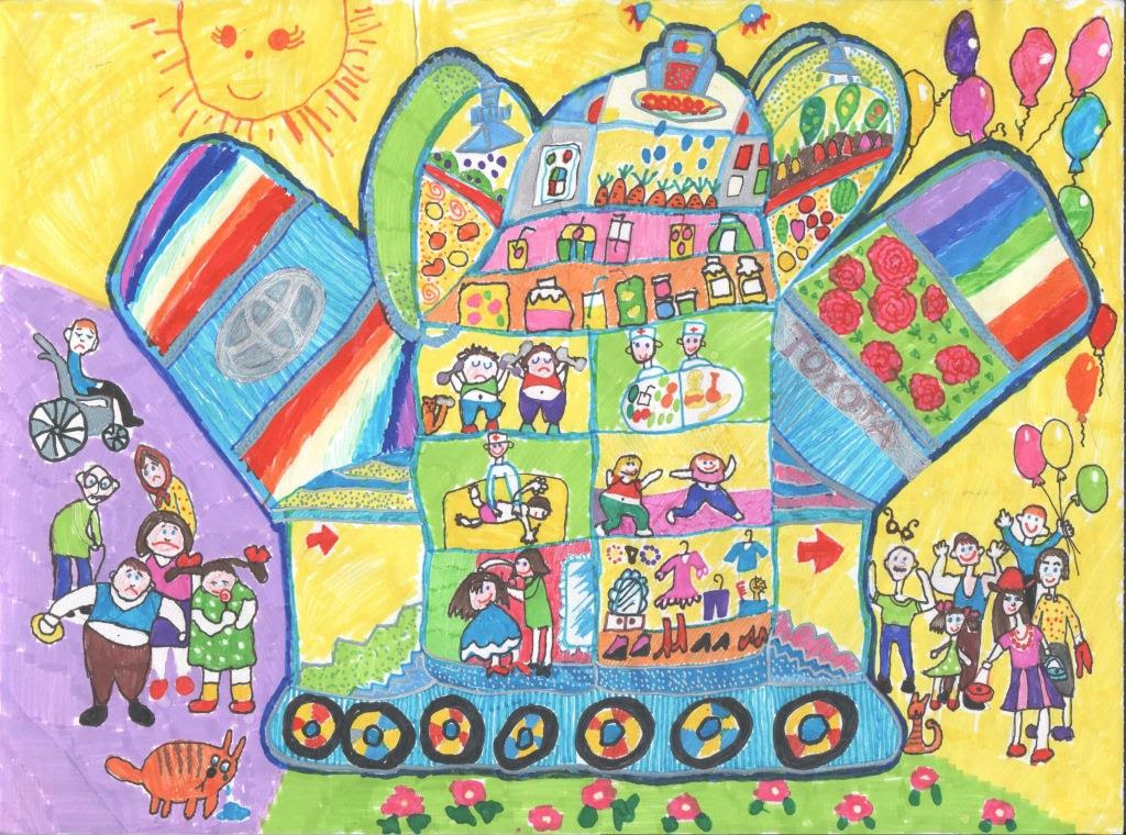 Категория «до 7 лет». 1 место. Кристина Топычканова, 6 лет. Межгорье Машина красоты, молодости и здоровья.