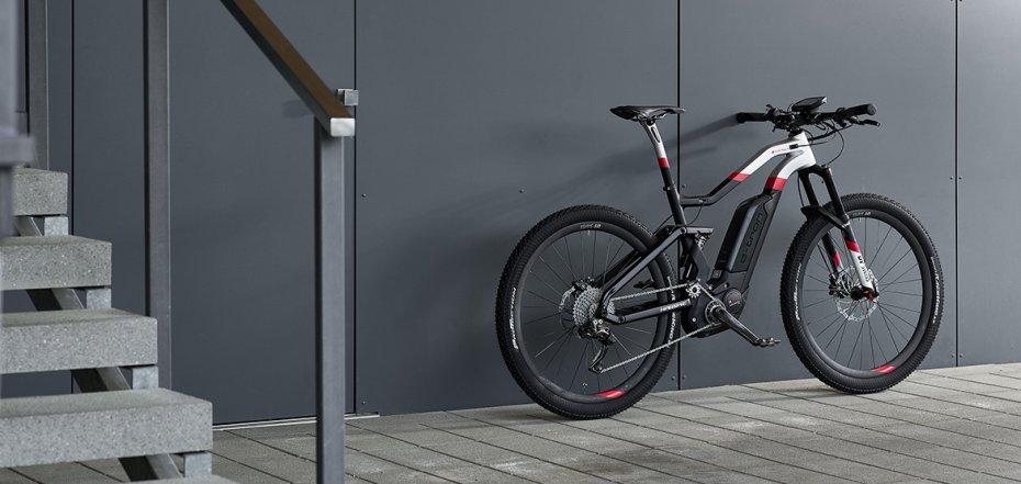 Audi Sport e-tron mountain bike.