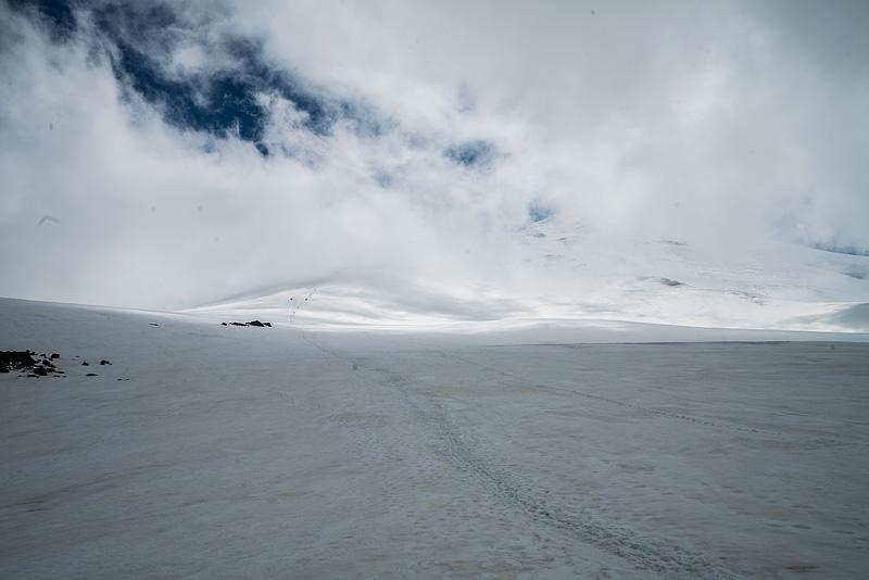 облачность на Эльбрусе