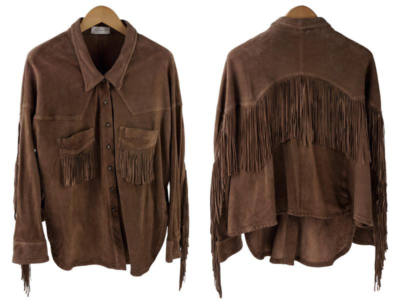 коричневая женская рубашка