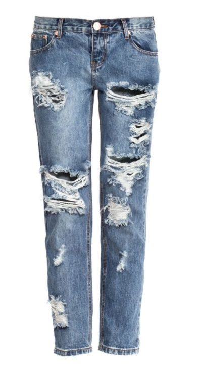 синие джинсы тренд 2018