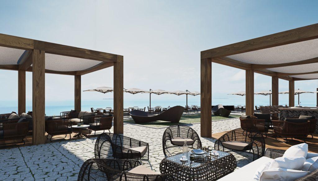 Вид на море от отеля Ангсана Корфу