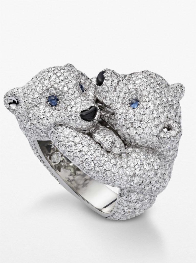 Кольцо White Teddy Bears